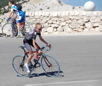 Hugh Carty on Mont Ventoux when he was still a boy!